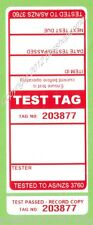 250 x RED Premium Electrical Adhesive Test Tag Labels