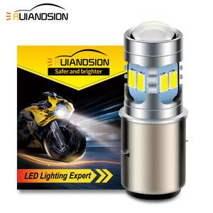 BA20D 5730 12 LED Motorbike Headlight Bulb Lamp Hi-Lo Beam Light DC6V/ 12V White