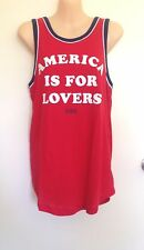 NWT Victoria's Secret PINK Americana Classic Rib Neck Muscle Tank Top SMALL (G3)