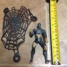2007 Black Suit Spiderman sand battle w/ web Marvel Hasbro