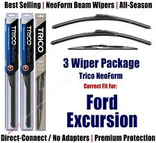 3pk Wipers Front & Rear NeoForm - fit 2000-2005 Ford Excursion 16200x2/30160