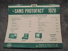 Sams Photofact Folder Set No. 1026 May 1969 Hitachi Panasonic Philco-Ford 11610