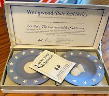 "Wedgwood State Seal Series, Set #7, Commonwealth of Delaware 4 and 1/2"" plates"