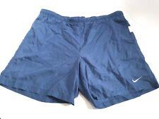 Vintage Nike Spell Out Swim Trunks Men's XL Mesh Liner Blue Nylon Swoosh