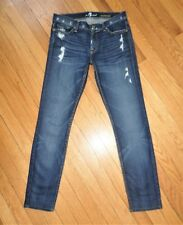 Seven 7 For All Mankind ROXANNE Skinny Distressed Jeans Prof Hemmed 27 x 28.5