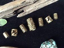 Dreadlock Beads 7 Celtic Bronze Tone Viking Hair Braid 4-6 mm Hole Bracelet Bead
