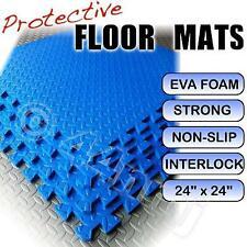 12mm Encajable Protector Gimnasio Sala de Juegos Suelo Felpudos Azul 256 Sq FT