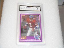 John Elway GRADED CARD!! 1989 Score #339S John Elway Denver Broncos HOFer! 8%-2