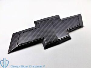 Chevy Traverse Black Carbon Fiber Emblem 09-12 Rear Hatch Liftgate GM OEM Badge