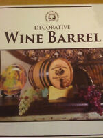 Thousand Oaks Decorative Barrel with Black Steel Hoops New IN Box
