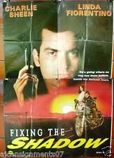 4sht Fixing the Shadow (Charlie Sheen) Original Lebanese Movie Poster 90s