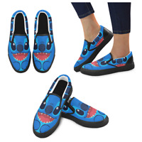 Women Sneaker Custom Lilo and Stitch  Casual Slip On Ladies Low Top Canvas Shoes
