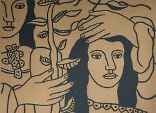 Fernand Léger, Deux figures et une fleur, Hand Signed Lithograph