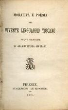 Moralita Poesia del Vivente Linguaggio Toscano/Giambattista Giuliani/1871