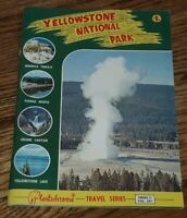 Yellowstone National Park Travel Series Guide PLASTICHROME C-331 vintage book