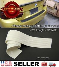 "35""x3"" White Rear Bumper Rubber Guard Cover Sill Plate Protector For Toyota Cars"