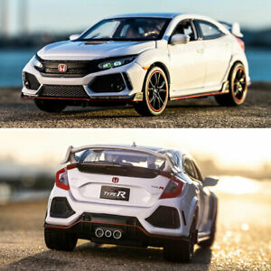 1:32 Honda Civic Type R Model Car Diecast Toy Vehicle Collection Kids Gift White