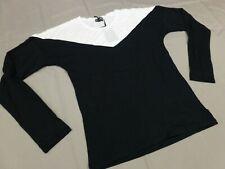 Laura Scott Shirt oversized Größe 36 schwarz weiß neu