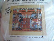 Artcraft Concepts Carousel 16 x 20 Longstitch Kit Needlepoint