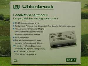 Uhlenbrock 63410 LocoNet Schaltmodul mit Anleitung digital in OVP (YG) E0689