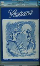 VISIONS #2 CGC 8.0 RARE LTD SIGNED AND # ED. NEAL ADAMS ART WHITE PGS 1980