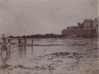 Paramé Rothéneuf Saint-Malo Francia Foto Amateur Vintage Citrato 1900