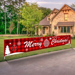 New Year Cute Outdoor Banner Santa Claus Christmas Decorations Home Xmas Decor