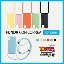 Funda Colgar Silicona Colores para Iphone Apple con Cordón Cuerda