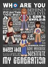 Inspired by The Who Roger Daltrey Pete Townshend Greeting Birthday Card