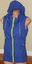 Womens Purple and Green Hooded Top/Vest - Lorna Jane - Size S