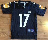 NFL #17 Mike Wallace Pittsburgh Steelers Nike On Field Youth Jersey Med 10/12
