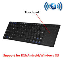 Wireless Bluetooth Ultra Thin Keyboard With Touchpad Mouse For PC Pad Android SG