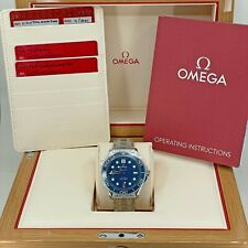 Omega Seamaster Diver 300 M, Blue Dial, 42mm, Steel, UNWORN, 2021, Complete