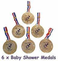 Baby Shower Party Games - 6 Baby Shower PRIZES  FAVORS - Medals M