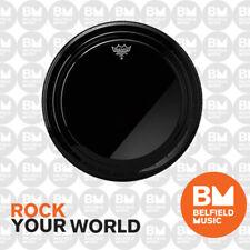 "Remo PR-1420-00 Powerstroke Pro Drum Skin Head Bass EBONY 20"" Diameter Black -BM"