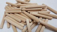 "Package of 50 individual 3"" x 3/8"" Wood multi groove dowel furniture glue pins"