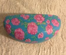 NEW BETSEY JOHNSON Pink Floral Hard Clamshell Sunglass Sunglasses