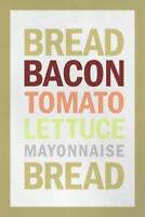 Recipe BLT Sandwich White inch Poster 24x36 inch