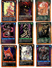White Wolf Rage 9 Unplayed Mint Limited Edition Character Cards UD 1995 Z6