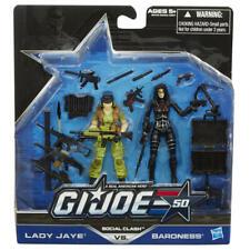 Lady Jaye And Baroness Social Clash GI Joe Cobra 50th Anniversary MOC New