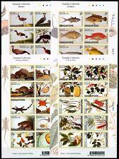 Singapur Singapore 2002 Pflanzen Vögel Fische Tiere Farquhar 1090-1129 Sticker