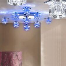 Dekorative LED Glas Lampe eckige Decken Leuchte Fernbedienung Flur Big Light