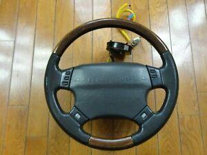 1995-2002 Land Range Rover Sport P38 Steering Wheel Wood Black OEM