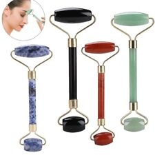 x1 Double-head Natural Jade Guasha Facial Massage Jade Roller Face Body Massager