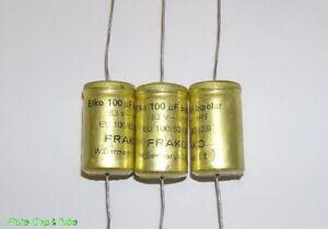 Red  Mark Qty K3 FRAKO 10 Volt  KE  100uF  Electrolytic Cap's  Axial  FPF 10