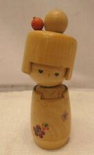 Kokeshi Creative Style Wooden Japanese Doll Handpainted Wood Vintage  #558
