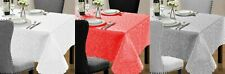 Jacquard Table Cloth Washable 4 Sizes Available 3 New Colours