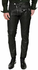 New Genuine Soft Lambskin Leather Mens Biker Pants Slim Fitting Swagger