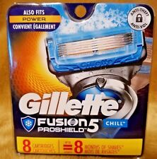 Gillette Fusion 5 PROSHIELD CHILL Cartridges Blades 8 Pack Free Shipping NEW