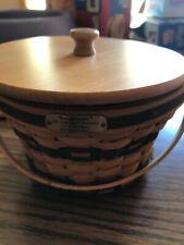 Jw Collection Longaberger 1998 Edition Miniature Apple Basket combo